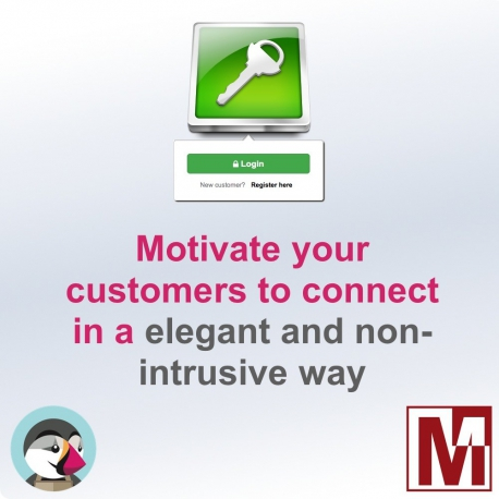 Motivate your customers to login to your PrestaShop