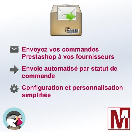 Envoyez vos commandes PrestaShop à vos fournisseurs par email