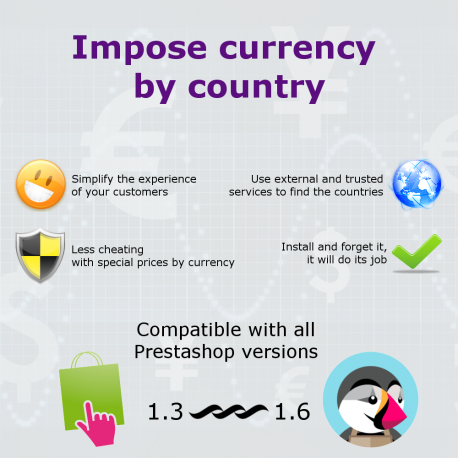 PrestaShop module Currency by country