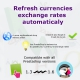 Automatically update exchange rates