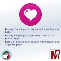 Display the logo of the manufacturer and / or supplier