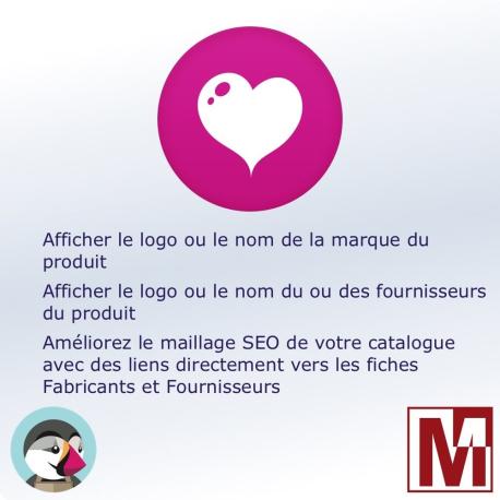 Afficher le logo du fabricant et / ou du fournisseur pour PrestaShop