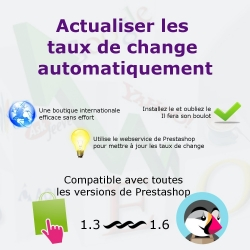 Mise à jour automatique des taux de change des devises PrestaShop