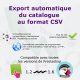 Export du catalogue au format CSV pour PrestaShop