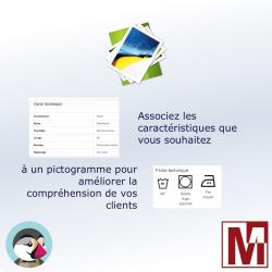 Associez des images aux caractéristiques produit PrestaShop