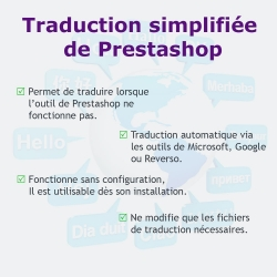 Traduction simplifiée de Prestashop