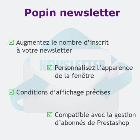Module PrestaShop PopIn Newsletter