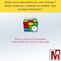 Ticket d'intervention pour PrestaShop