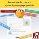 Formulaire de contact dynamique sur page produit