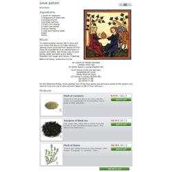 CMS Recettes + liste de produits